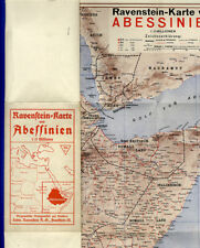 Selten Ravenstein Landkarte Horn von Afrika Abbesinien Somalia Eritrea 1939