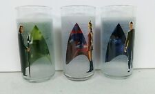 Collectible 2008 Star Trek Frosted Glasses Set of 3