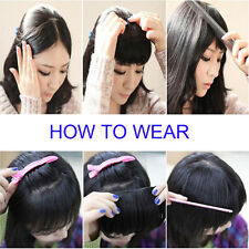 US 100% Real Natural Full Head Clip in Human Hair Extensions 8 Pcs Straight Wavy