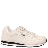 Men's Fila CRESS White/Navy/Red Lace-Up Athletic Sneaker Shoes