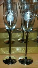 NEW Disney Parks LOVE IS MAGICAL Cinderella Castle Champagne Flute Glass Wedding