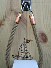Jute Rope Towel or Toilet Roll Holder Urban Nautical Design-Copper & Stainless