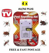 4x RIDDEX PLUS PULSE Pest Repelling Aid OZ Plug For Ants Spider Rodents Roaches