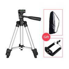Universal Camera Tripod +Cell Phone Holder Stand Mount for iPhone Samsung Huawei