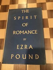 The Spirit Of Romance by Ezra Pound New Directions hardcover VG In VG dustjacket