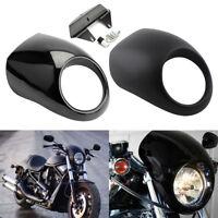 Front Headlight Fairing Cowl Fit for Harley V ROD Dyna FX Sportster XL Black JH