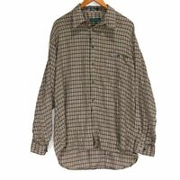 Tundra Men's Plaid Soft Rayon Button Up Shirt - Size Large