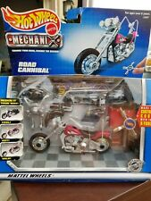 Hot Wheels Mattel MECHANIX 1999 Road Cannibal Red Motorcycle Customize Kit 24987