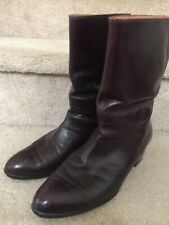 Vintage Pierre Cardin Red Leather Men's Boots Size 10 M