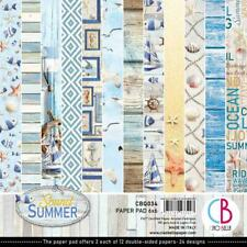 """BEACH SUMMER 6"""" x 6"""" IN Paper Pack 24 Double-Sided Sheets CIAO BELLA CBQ034 New"""