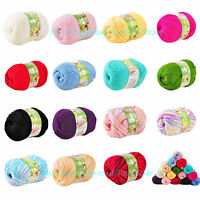 50g Super Soft Double Knitting Nano Protein Natural Wool  48 Colours Yarn Ball G