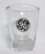 GE General Electric Logo on Clear Shot Glass