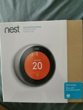 NEST Learning Thermostat + Official Stand - 3rd Generation, Stainless Steel
