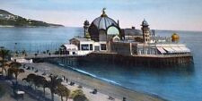 """Beach Pier Mosque type Dome with Oriental flavor on frame 11""""x20"""" gorgeous warm"""