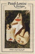 JUST DUCKY Hoody, Tote & Booties ~ Quilt Applique Sewing Pattern #461 Ducks