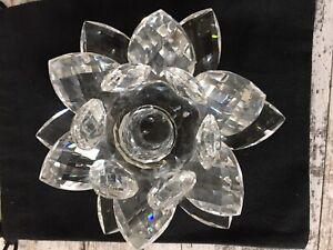 Swarovski Kerzenhalter 119747 Seerose Waterlily Groß 14,5 cm Design: Max Schreck
