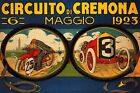 Car Motorcycle Race 1923 Cremona Italy Italian Vintage Poster Repro FREE SH