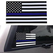 2PCS Police Officer School Blue Line Stripe Star USA Flag Decal Paper Stickers