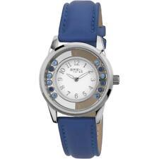 Reloj de Mujer BREIL Tribe MOON RIVER EW0370 Cuero Azul Blanco Swarovski NUEVO