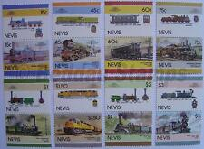 1986 NEVIS Set #6 Train Locomotive Railway Stamps (Leaders of the World)