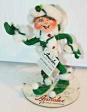 """Annalee Dolls 2008 5"""" Inch Green Peppermint Twist Elf 75 Years & Counting"""