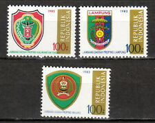 Indonesia - 1982 Coats of Arms (V) - Mi. 1053-55 MNH