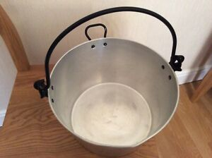 Large stainless steel jam pot