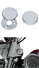 Fork Lock Cover Coperchio Girevole Cromato x Forcella Harley Davidson FLHR 94-08