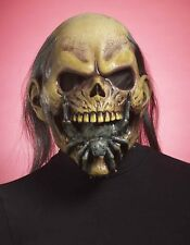 Spider Mouth Skeleton Mask Adult Latex Halloween Face Hair Head Fancy Dress NEW