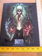 2010 Blizz Con gaming convention program Diablo Starcraft World of Warcraft