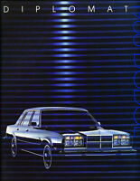 1988 Dodge Diplomat Salon Original Car Sales Brochure
