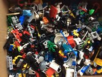 Lego Bundle 600g Mixed Bricks Small Parts Pieces City Police Space Accessories