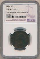 1794 Large Cent. NGC Fine Details