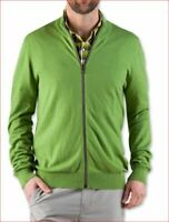 new STIO men 2125 M's sweater synthis zip 10% wool piquant green L MSRP $119