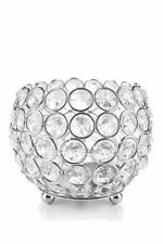 Crystal Globe Tealight Votive Candle Holders Wedding Centerpieces 4 Inch