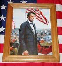 Framed Civil War Print, Mort Kunstler, ABRAHAM LINCOLN, Gettysburg Address