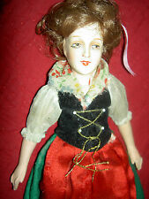 Lovely signed, antique composition & cloth, Rudolf Leschhorn, small boudoir doll