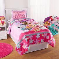 Paw Patrol Puppy Girls Nick Jr. Twin Comforter & Sheets (4 Piece Kids Bedding)