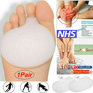 Pair of Gel Metatarsal Pads Ball Foot Cushion Forefoot Care Sore Feet Pain UK.