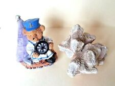Captain Bear and Sea Coral Resin Figurines Set of 2