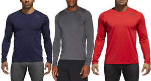Adidas Men's Training Alphaskin Long Sleeve Fitted Tee Shirt, Color Options