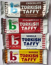 Bonomo Turkish Taffy 8ct Sampler Two of Each Flavor Choc Straw Banana Vanilla