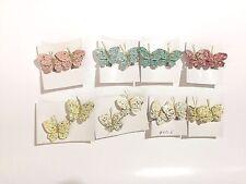 Butterfly Clip on Earrings From 1950's