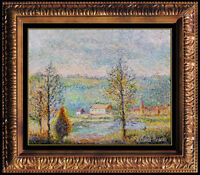 Hughes Claude Pissarro Original Painting Oil on Canvas Signed French Artwork SBO