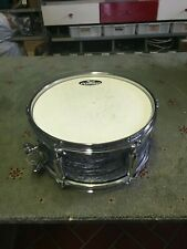"""VINTAGE PEARL FIRECRACKER SNARE BLACK OYSTER FINISH 10""""X5"""" 6 LUGS CON SMALL CASE"""