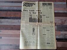YORKSHIRE EVENING POST GREEN FINAL NEWSPAPER 27/03/1971