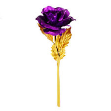 24k Gold Plated Rose Flowers Anniversary Mothers Day Girlfriend Romantic Gift UK