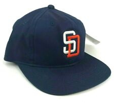 Vintage San Diego Padres Outdoor Cap Co Youth Size Hat Cap Blue with Orange Logo
