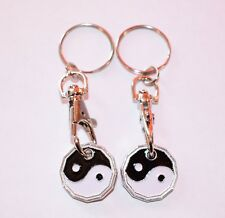 Yin and Yang Trolley / Locker Coin Keyring with one Free