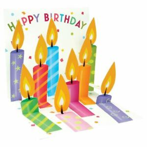Pop-Up Greeting Card Trearures by Up With Paper - Birthday Candles